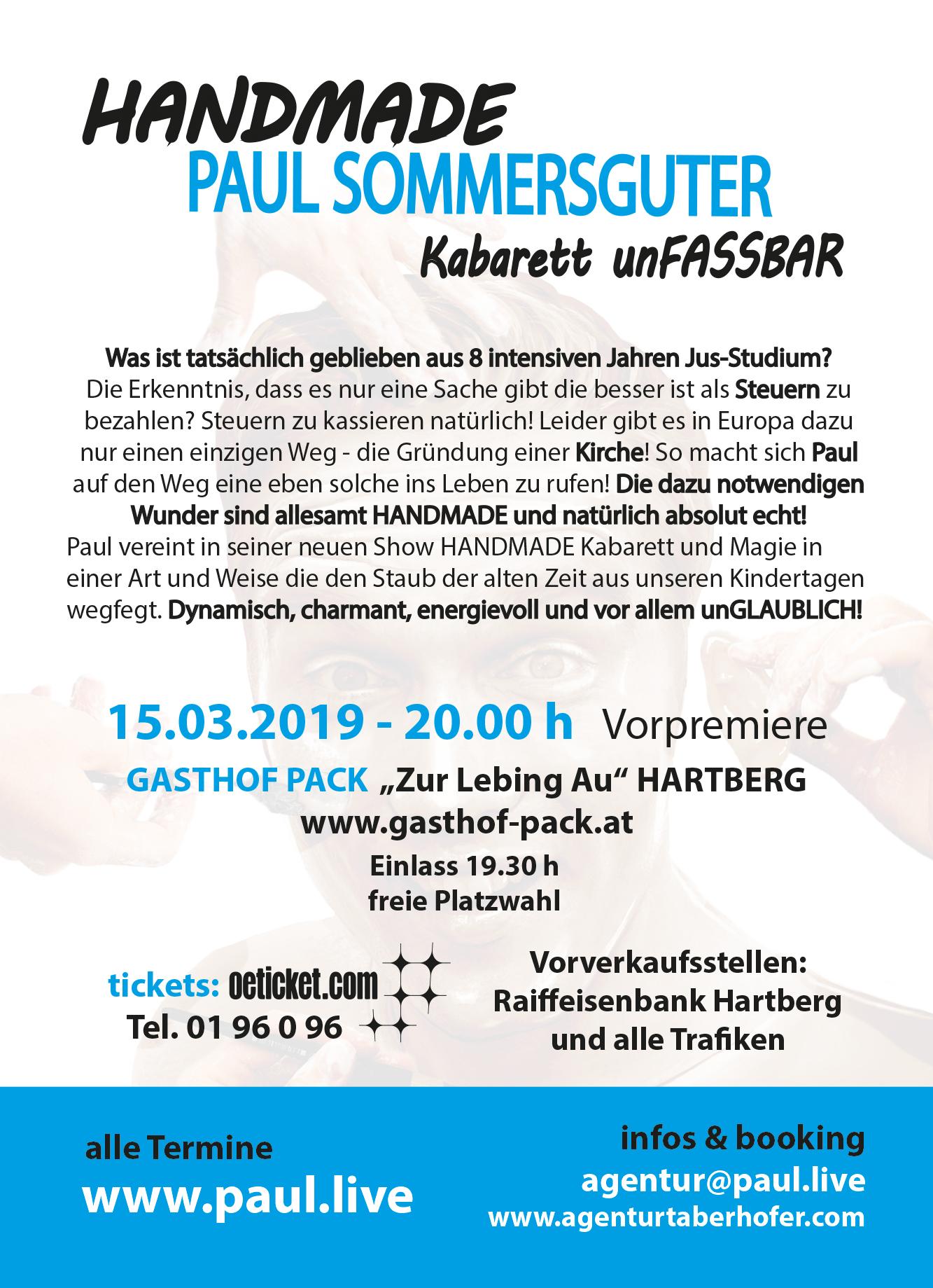 FlyerBackHandmade Paul Sommersguter